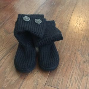 Black knit Carly Ugg boots